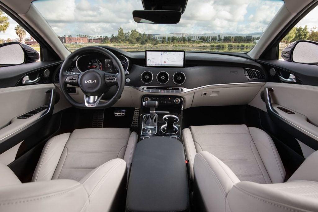 2022 Kia Stinger interior layout.