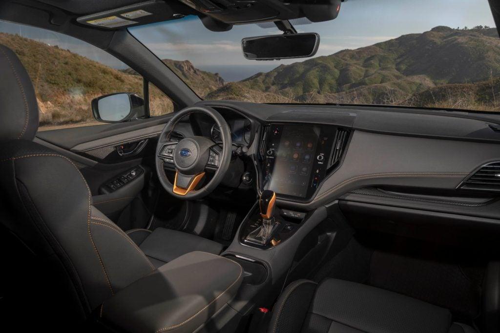 2022 Subaru Outback Wilderness interior layout.