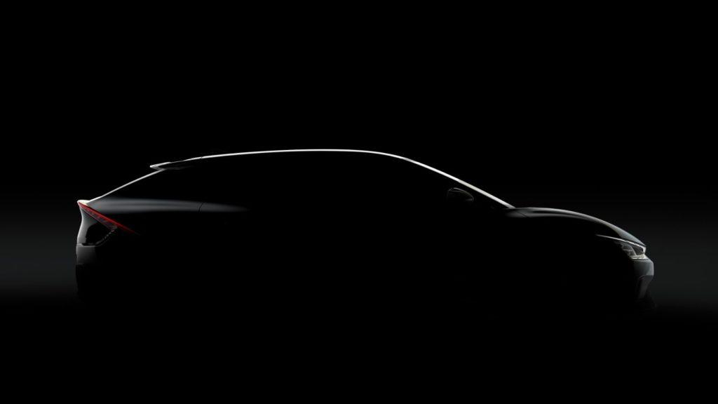 Teaser image of the Kia EV6.