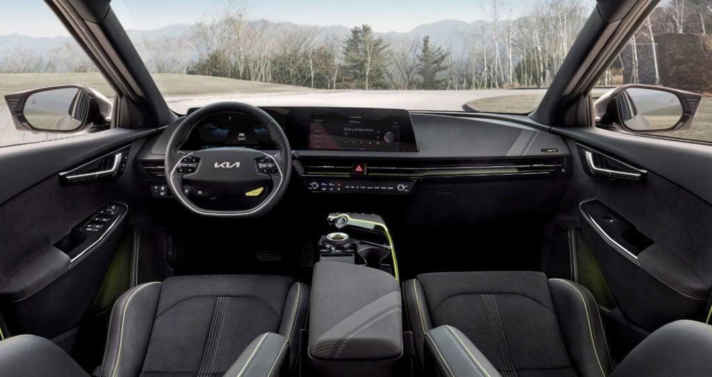2022 Kia EV6 interior layout.