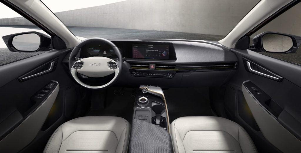 Kia EV6 interior layout.