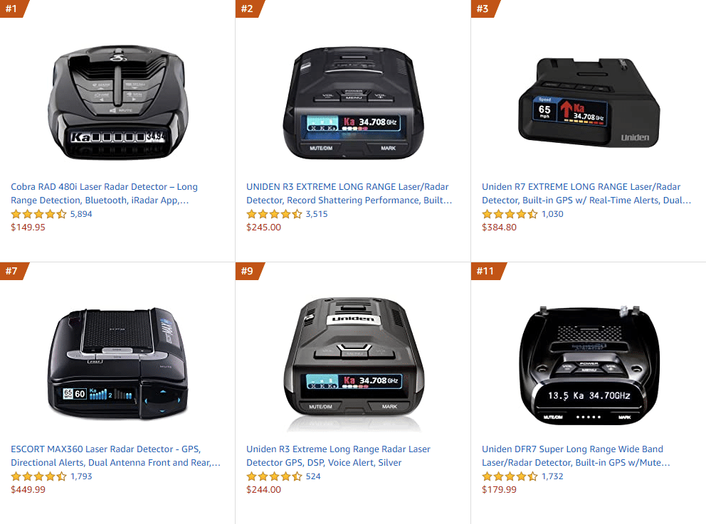 The 5 Best-Selling Radar Detectors on Amazon (and Where Else to Buy Them)