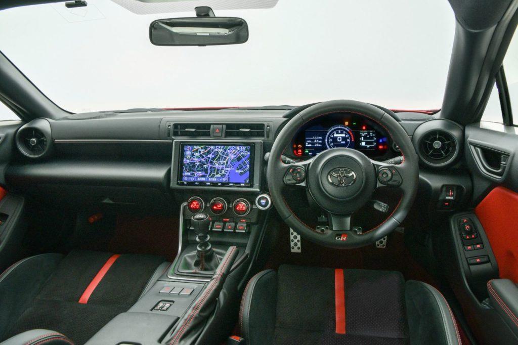 2022 Toyota GR 86 interior layout.