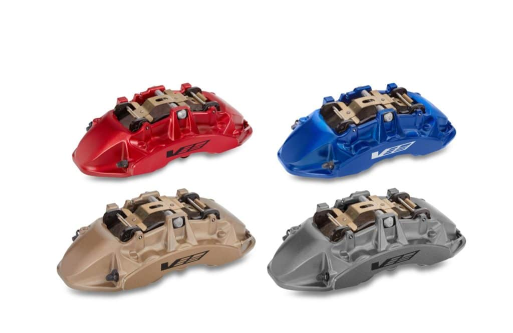 Brembo brake calipers for the Cadillac CT5-V Blackwing.