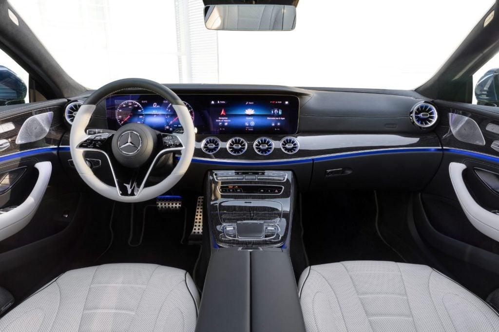 2022 Mercedes-Benz CLS interior layout.