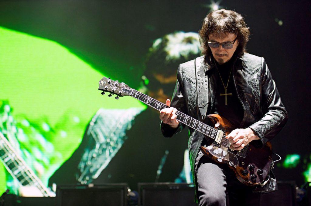Black Sabbath's Tony Iommi in concert.