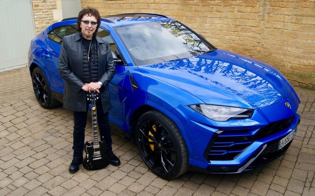 Black Sabbath guitarist Tony Iommi with his new Lamborghini Urus.