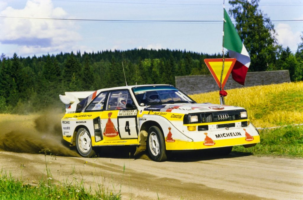 From quattro: The Race and Rally Story: 1980-2004 by Jeremy Walton, published by Evro Publishing Limited. Photo: Motorsport Images.