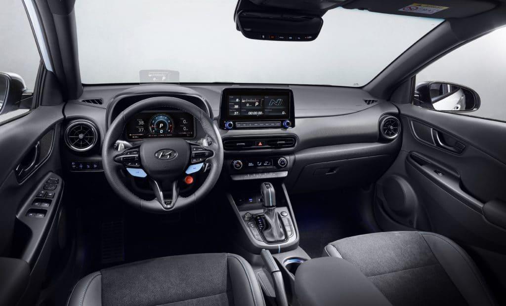 2022 Hyundai Kona N interior layout.