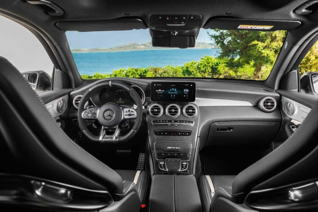 2022 Mercedes-AMG GLC 63 S interior layout.