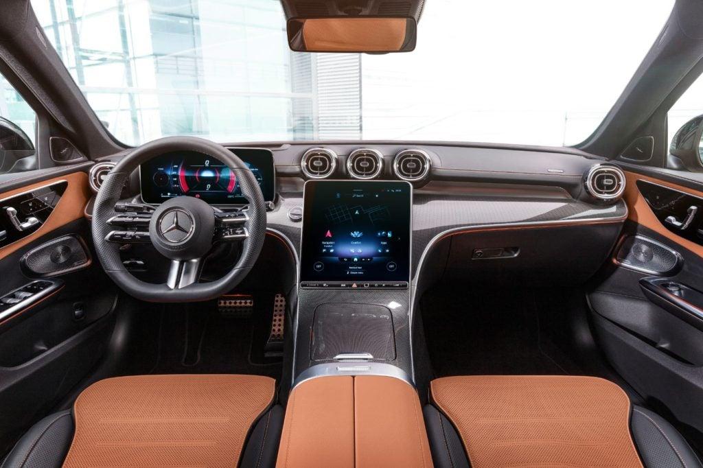 2022 Mercedes-Benz C-Class interior layout.