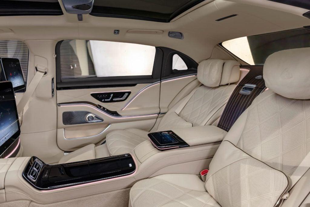 2022 Mercedes-Maybach S 680 4MATIC Sedan reat seats.