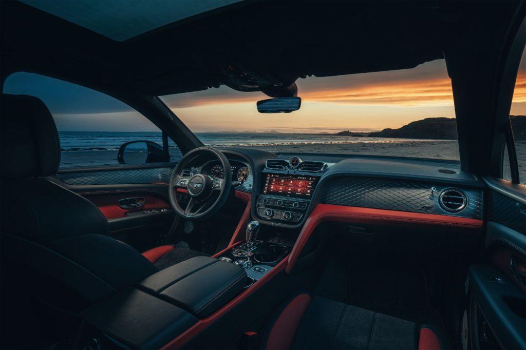 2022 Bentley Bentayga interior layout.