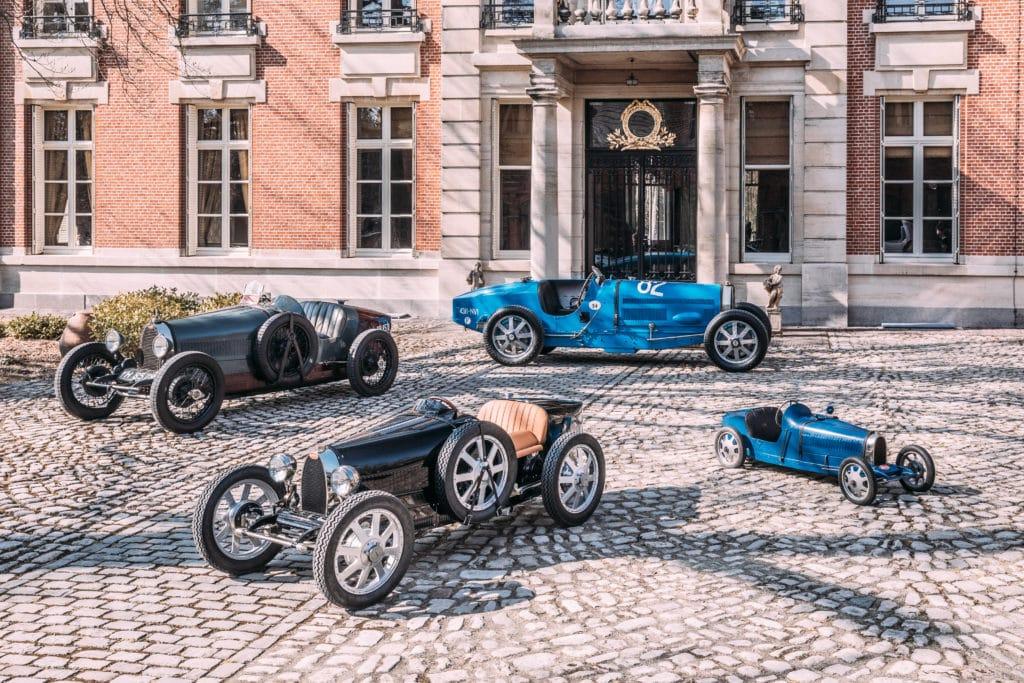 Bugatti Baby II group photo.