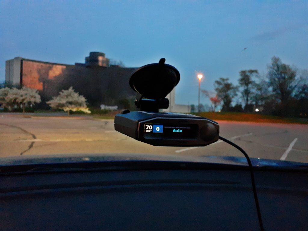 Escort MAX 360c at night.