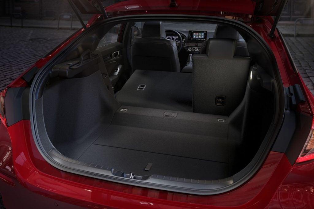 2022 Honda Civic Hatchback rear opening.