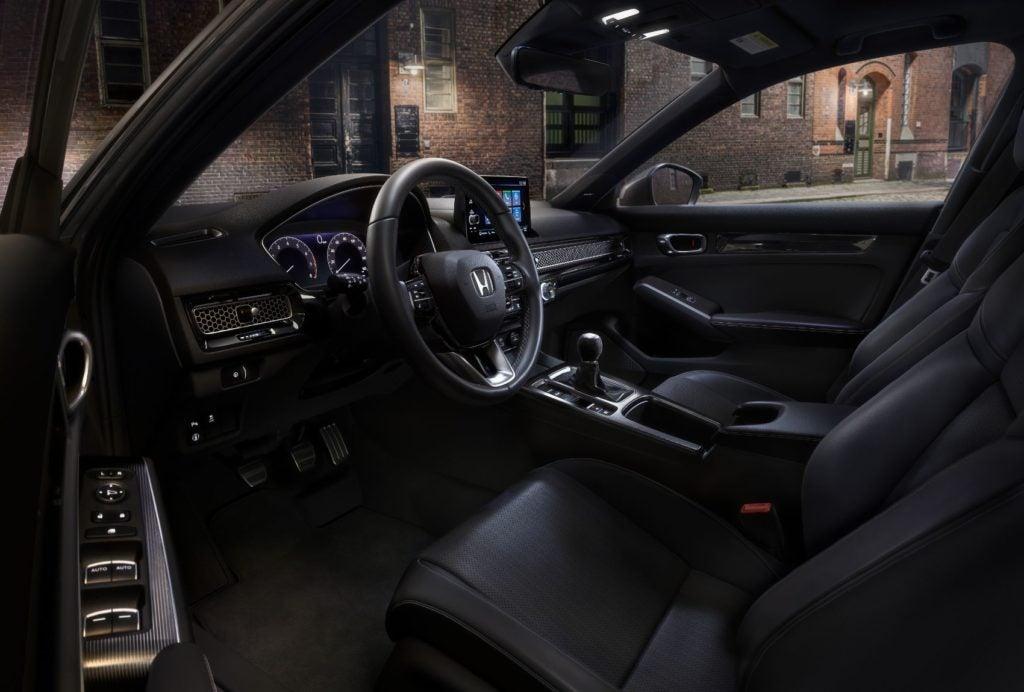 2022 Honda Civic Hatchback interior layout.