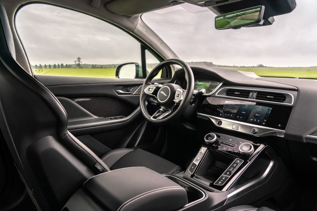 2022 Jaguar I-PACE interior layout.