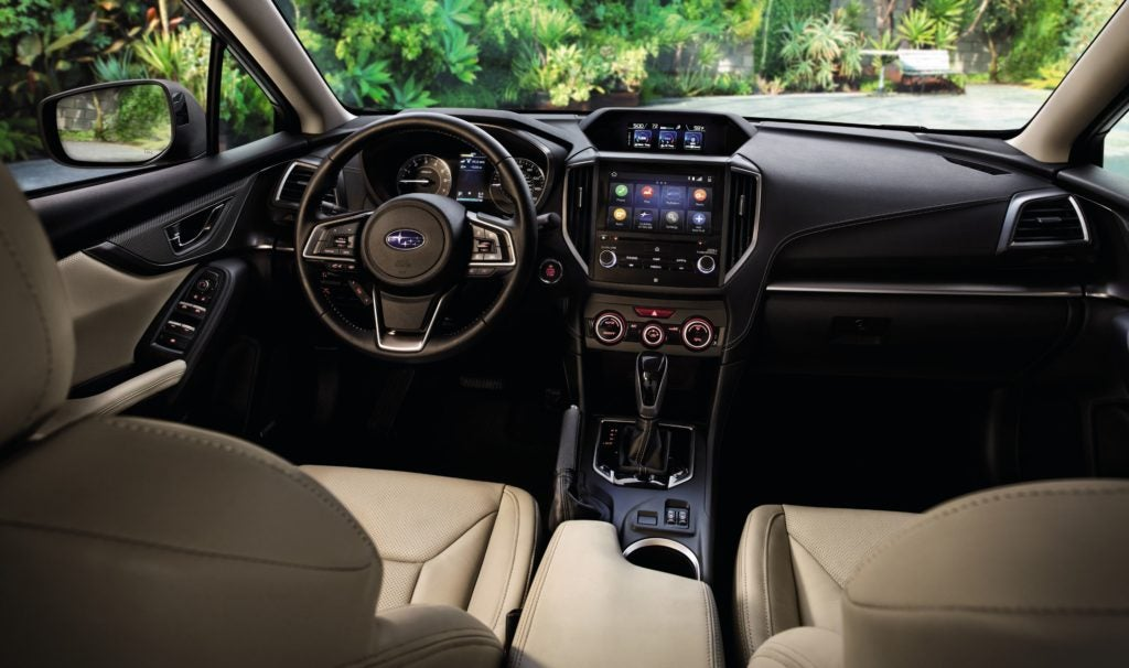 2022 Subaru Impreza interior layout.