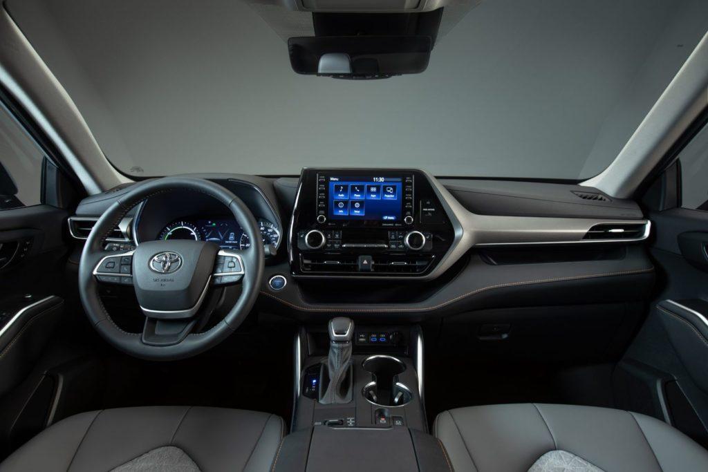 2022 Toyota Highlander Hybrid Bronze Edition interior layout.