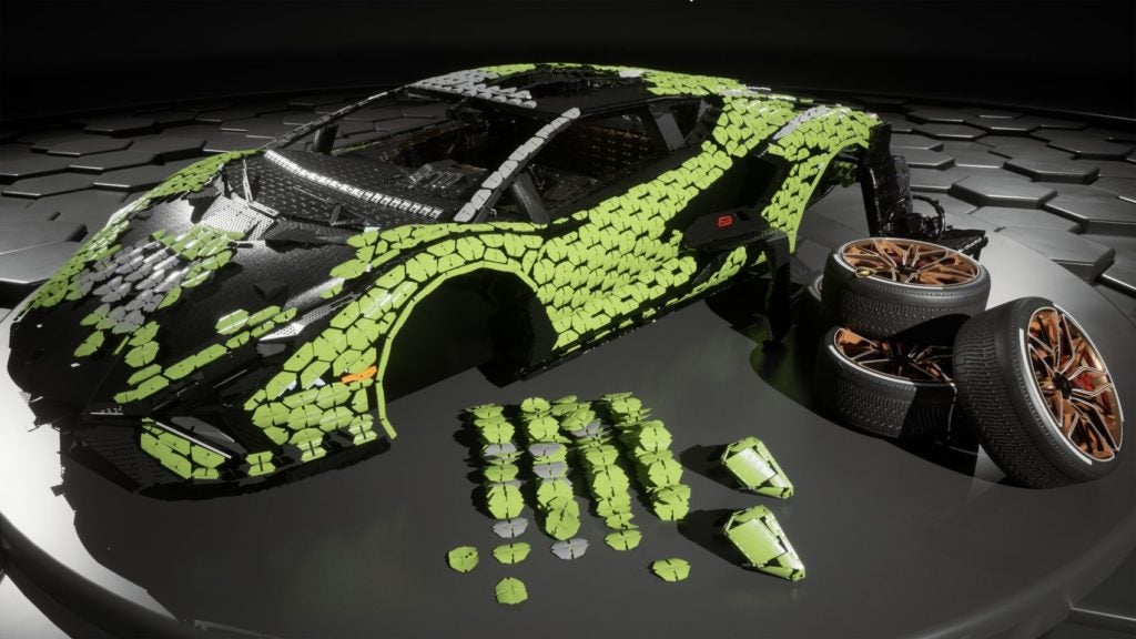 Automobili Lamborghini, in collaboration with the LEGO Group, has built a life-size replica of the Sián FKP 37.