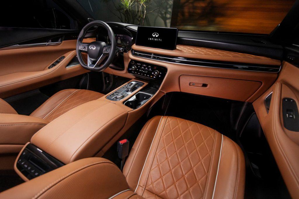 2022 Infiniti QX60 interior layout.