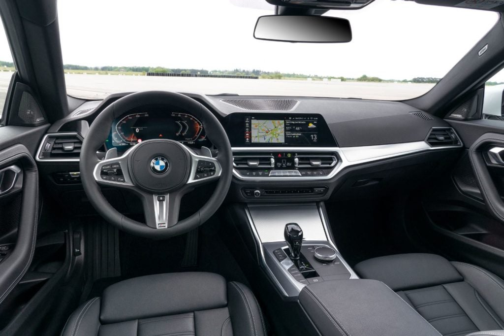 BMW M240i xDrive Coupe interior layout.