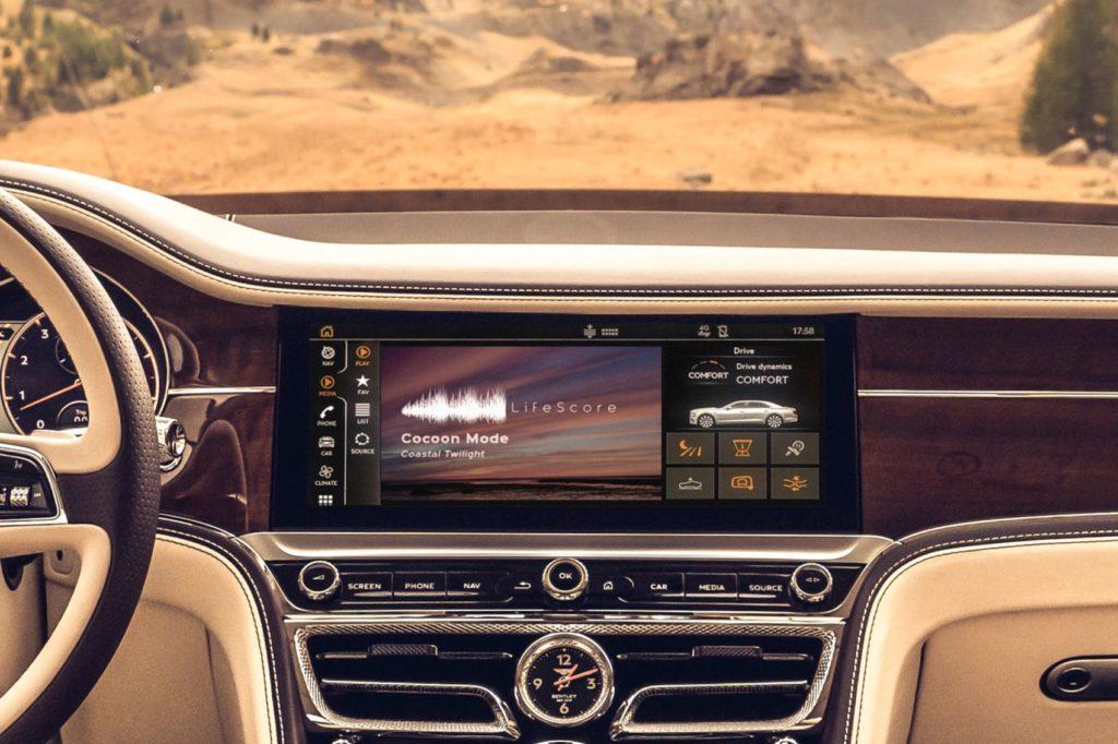 Bentley dashboard display screen.