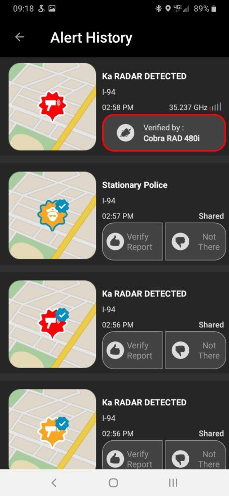 Cobra iRadar App 5