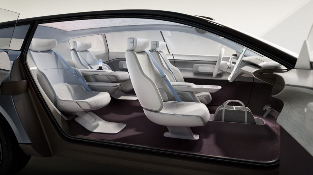 Volvo Concept Recharge interior layout.