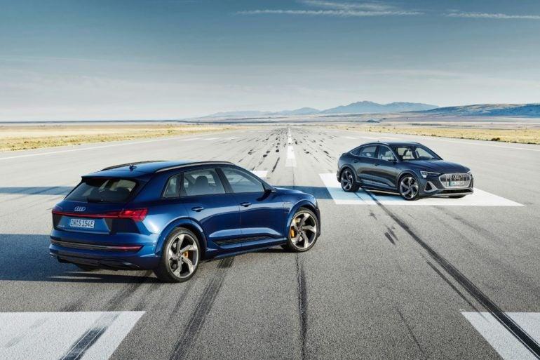 2022 Audi e tron S and e tron S Sportback
