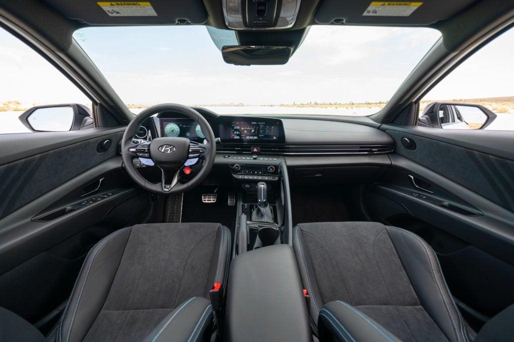 2022 Hyundai Elantra N interior layout.