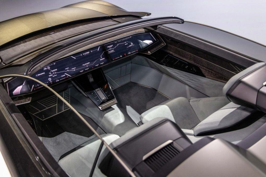 Audi skysphere concept interior layout.