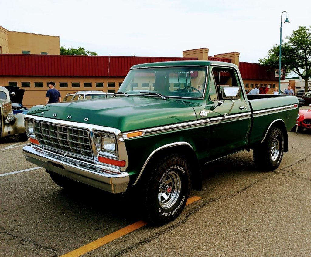 Classic Ford truck at the Allen Park Downtown Development Authority's annual car show in 2019.