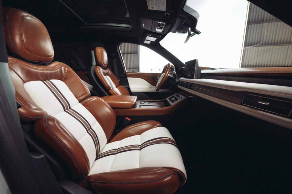 Lincoln Aviator Shinola Concept interior layout.
