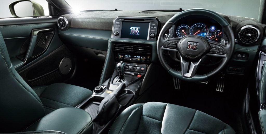 2021 Nissan GT-R T-spec Edition interior layout.