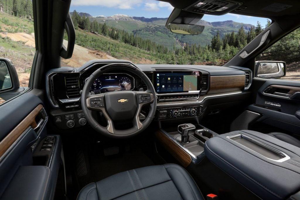 2022 Chevy Silverado High Country interior layout.
