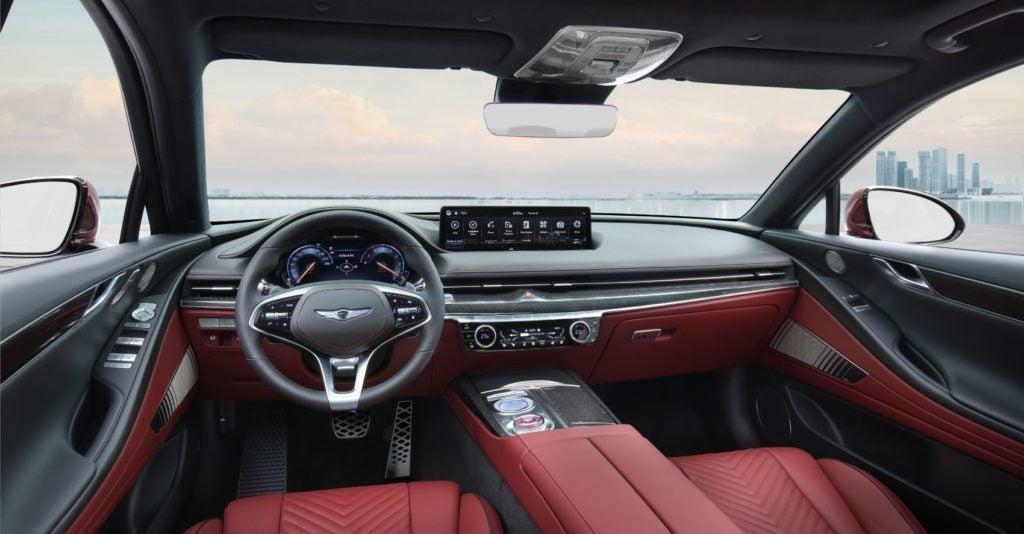 2022 Genesis G80 interior layout.