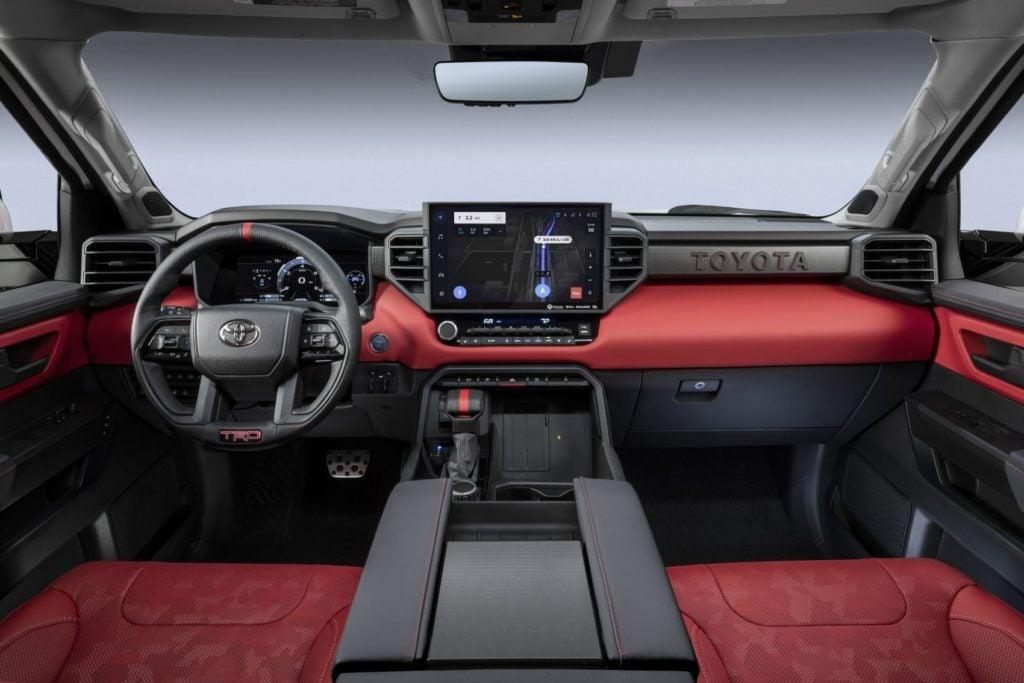 2022 Toyota Tundra interior layout.