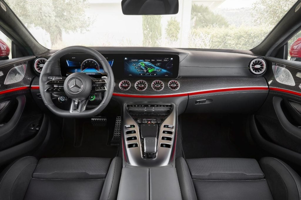 Mercedes-AMG GT 63 S E Performance interior layout.