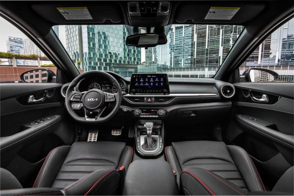 2022 Kia Forte interior layout.