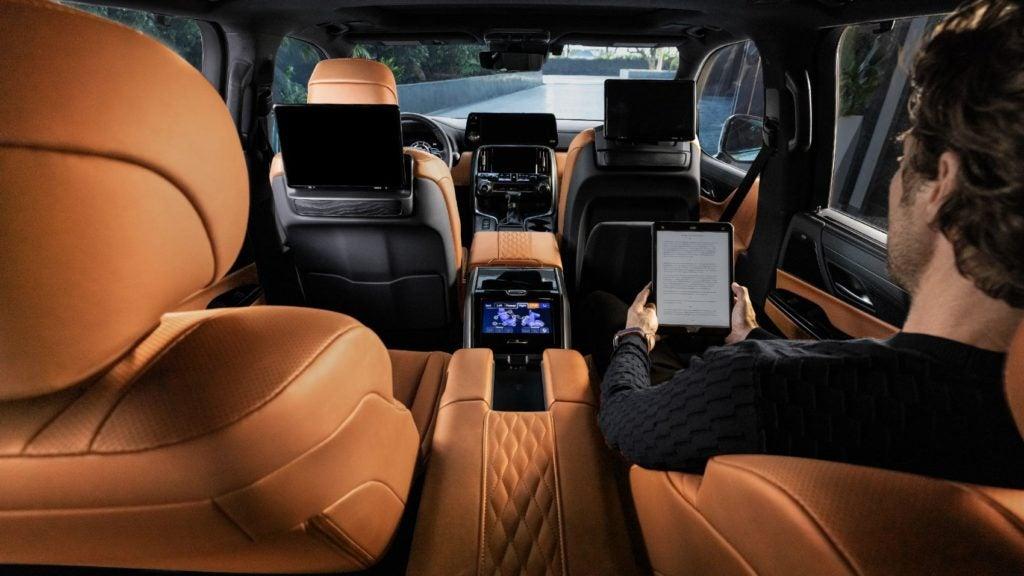 2022 Lexus LX 600 interior layout.